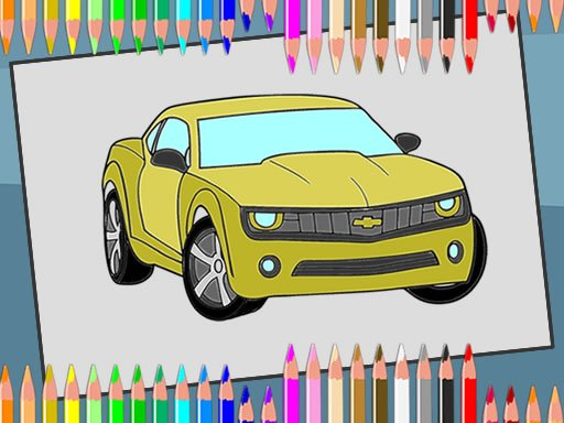 Play American Cars Coloring Book Free Game Online On