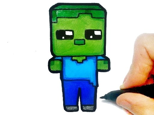 Easy Kids Coloring Minecraft
