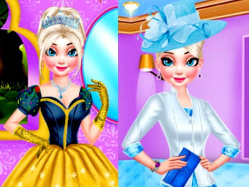 MAKEOVER ROYAL QUEEN VS MODERN QUEEN DRESSUP