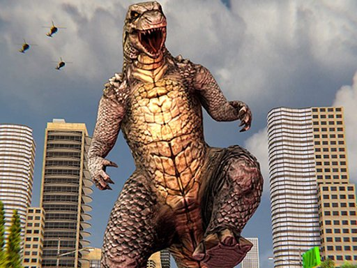 Monster Dinosaur Rampage City Attack